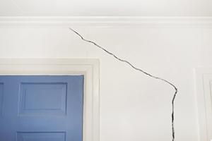 Sheetrock damage crack